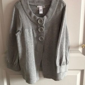 H&M light grey cotton sweater cardigan